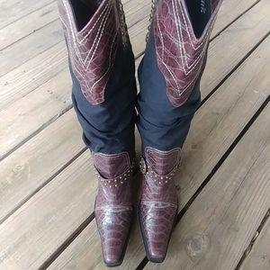 "J. Renee Womens ""Montana"" croc print boots 9M"